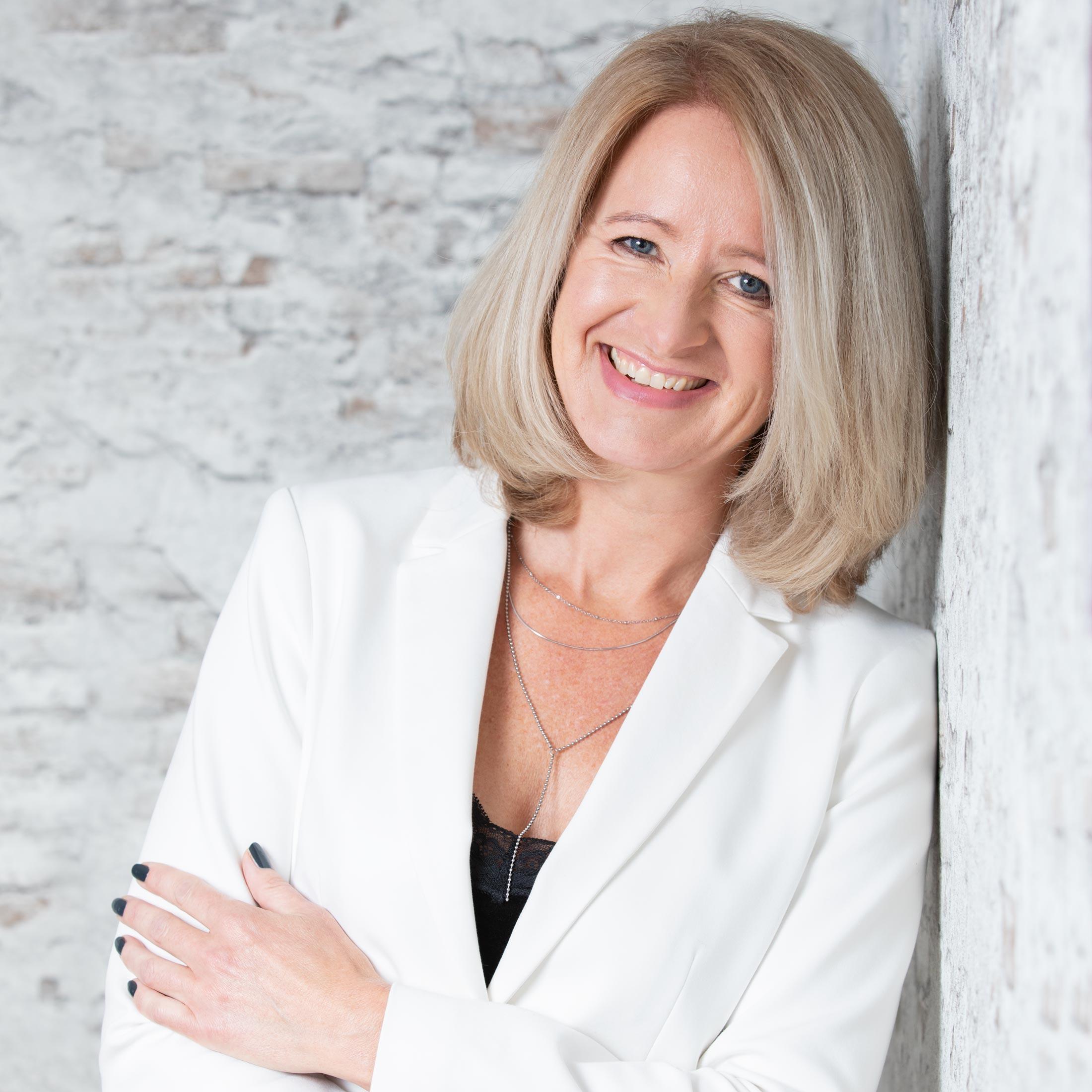 LinkedIn portret van een zakenvrouw